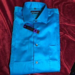 {Geoffrey Bean} NWT turquoise LS dress shirt